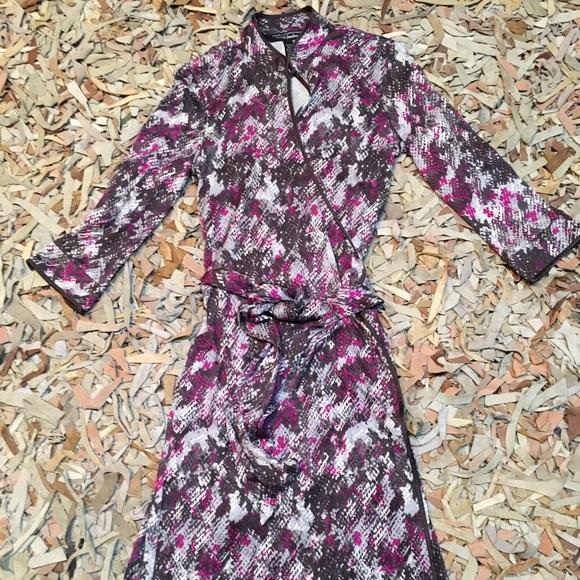f0c7affb8 Diane Von Furstenberg Dresses | Dvf For Neiman Marcus Wrap Dress Sz ...